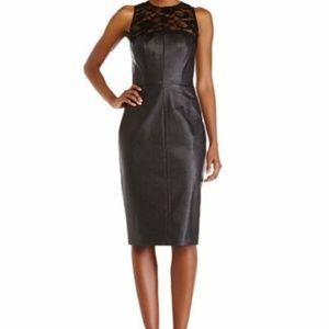 NewAlexiaAdmor FauxLeatherCocktailPartyBlack Dress